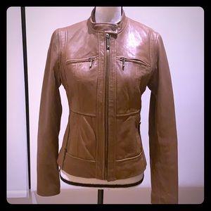 Michael Kors leather jacket tan/brown